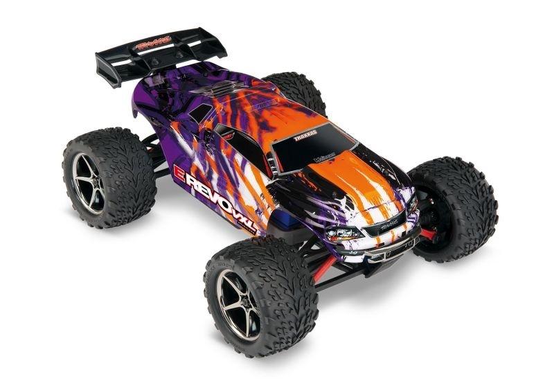 Traxxas 1/16 E-Revo 4x4 VXL purple/violett RTR + 12V-Lader +