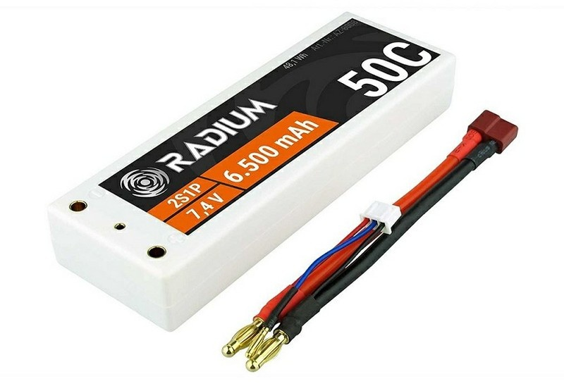 LiPo 2s1p 7,4V 6500mAh 50C RADIUM Goldkontakt 4,0mm HC