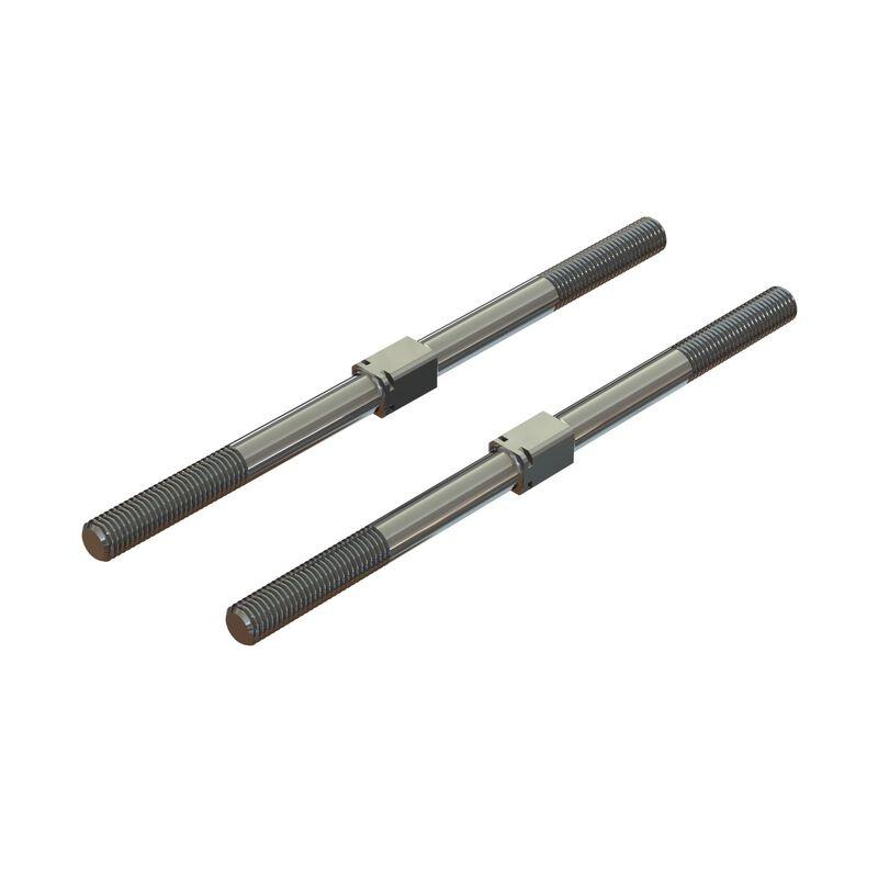 Arrma Steel Turnbuckle M7x130mm Silver (2) (ARA330746)