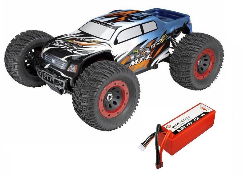 ThunderTiger MT4 G3 4WD BLMT 6s 2.4GHz blau RTR 1:8 SPARSET1
