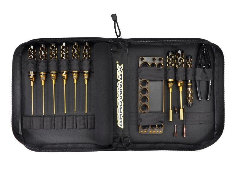 Arrowmax Toolset für 1/10 Offroad (13Pcs) With Tools Bag