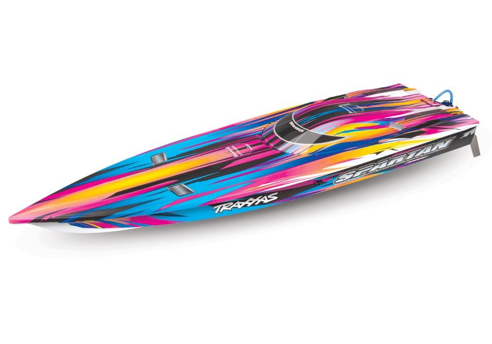 TRAXXAS SPARTAN pink ohne Akku/Lader BL-Renn-Boot