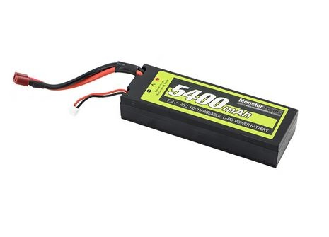 Monstertronic Akku LiPo 7.4V 5400mAh T-Plug Stecker Hardcase