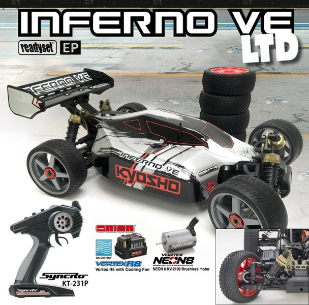 Kyosho Inferno VE Type 2 Readyset EP RTR 1:8 --SPARSET 1--