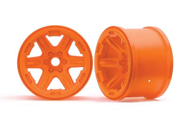 Traxxas Felge 3.8 orange (2) 17mm Aufnahme