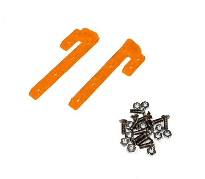 JS-Parts ultraflex Dachskid 70x20mm für 1/8 orange