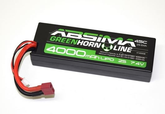 LiPo Stick Pack 7.4V-45C 4000 Hardcase (T-Plug)