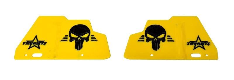 JS-Parts ultraflex Mudguards gelb/schwarz