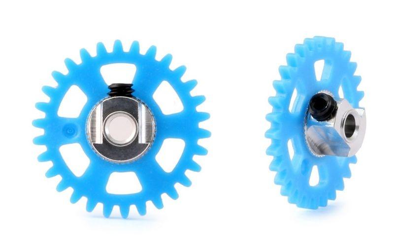 NSR SW 3/32 Plastic Gear/Zahnrad 30T w/alu hub BLUE