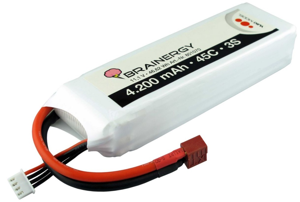 Yuki Model Brainergy LiPo 3s1p 11,1V 4200mAh 45C