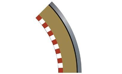 Scalextric SPORT Randstreifen Kurve R1 aussen 45(4)