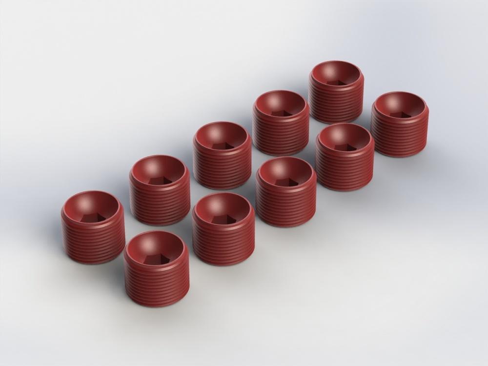Arrma RC Lenkhebel-Sicherungsschrauben rot (10)