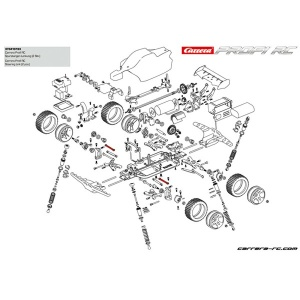 Carrera Profi RC Splinte 10 183001//183002 Copper Maxx//Red Fibre
